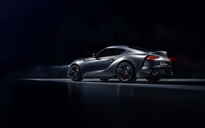 Picture background, coupe, Toyota, side, dark, Supra, the fifth generation, mk5, double, 2019, GR Above, A90, …