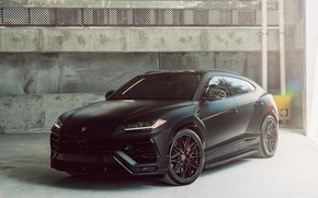 Picture auto, black, Lamborghini, Lamborghini, SUV, Lamborghini Urus, Ламборджини Урус