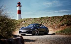 Picture lighthouse, Porsche, 4x4, Biturbo, Targa, special model, 911 Targa 4 GTS, Exclusive Manufaktur Edition