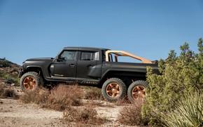 Picture pickup, in profile, Rezvani, 2020, Hercules 6x6