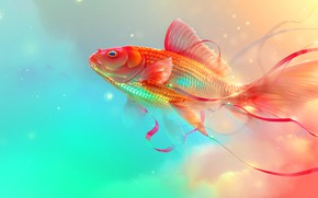 Picture tape, background, fish