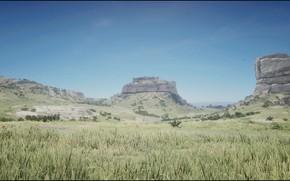 Picture HDR, Nature, Landscape, Game, Rocks, Field, Red Dead Redemption 2, RDR2
