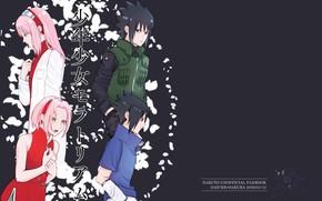 Picture petals, Naruto, Naruto, Sasuke Uchiha, Sakura Haruno