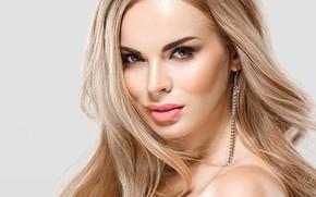 Wallpaper look, makeup, blonde, woman, beautiful, blonde