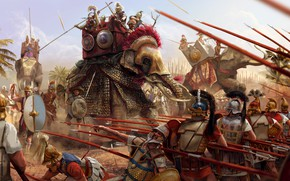 Picture death, weapons, attack, elephant, armor, battle, warrior, soldiers, Battle