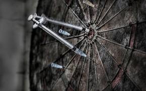 Picture Darts, target, syringes