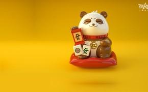 Picture the game, art, Panda, Mahjong, Lucky Panda, Jane Ye