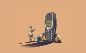 Picture cell phone, archaeologists, Nokia, fossil, 3310