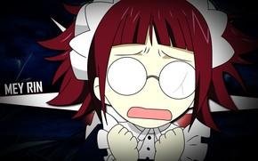 Picture girl, glasses, the maid, Kuroshitsuji, Dark Butler, Mey Rin