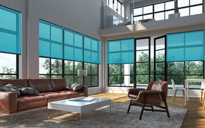 Picture Villa, interior, living room, Venetian Blinds, Twilight Blinds