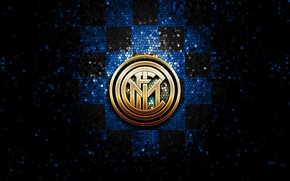 Picture wallpaper, sport, logo, football, Inter Milan, glitter, checkered