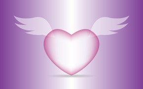 Picture heart, graphics, wings, Valentine's Day