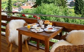 Picture berries, coffee, Breakfast, juice, Switzerland, oatmeal, Brigels, La Val Hotel & Spa, Palius