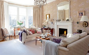 Picture design, style, interior, fireplace, living room, home in Glasgow