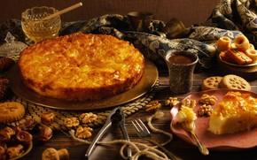 Picture food, pie, honey, honey, сладий