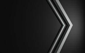 Picture minimalism, line, black background