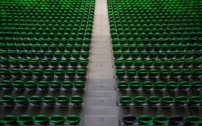 Wallpaper Krasnodar, Stadium, Black-green, Russia, Tribune, Top, Seat, FC Krasnodar, Football