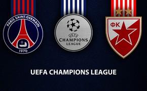 Picture wallpaper, sport, logo, football, PSG, UEFA Champions League, Paris Saint-Germain, PSG vs Red Star Belgrade, …