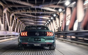 Picture movement, Ford, 2018, feed, V8, Mustang Bullitt, 5.0 L., 460 HP, fastback