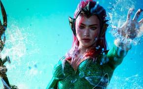 Picture girl, mermaid, art, Aquaman