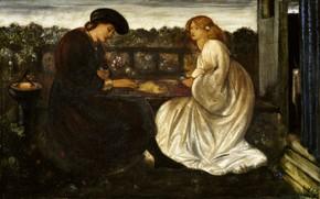 Picture 1862, Edward Burne-Jones, Backgammon players