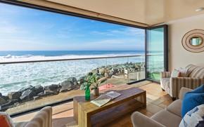 Picture room, interior, living room, Oceanside Villa