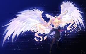 Picture Angel, Girl, Wings, sennen sensou aigis
