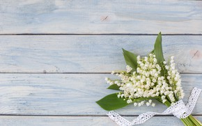 Picture flowers, bouquet, spring, white, lilies of the valley, wood, flowers, spring, lily of the valley