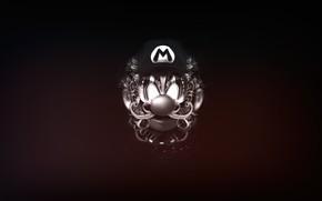 Picture Minimalism, The game, Style, Mario, Background, Art, Mario, Super Mario, Black and white