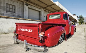 Picture Chevrolet, Red, Low, 3100