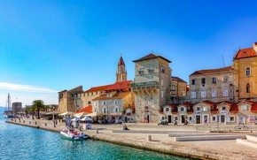 Picture sea, home, Croatia, Trogir