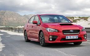 Picture Subaru, WRX, Red, Road