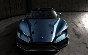 Picture supercar, front view, 2018, V10, ItalDesign, Targa, 610 HP, 5.2 L., Zerouno Duerta