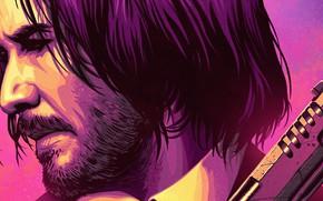 Picture gun, movie, Keanu Reeves, John Wick, John Wick 3, John Wick Parabellum