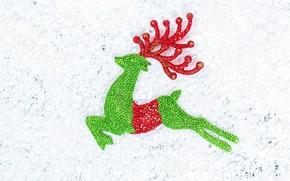 Picture snow, deer, decoration