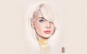 Picture Girl, Minimalism, Blonde, Lips, Girl, Eyes, Background, Art, Beautiful, Sexy, Art, Eyes, Sexy, Beautiful, Background, …