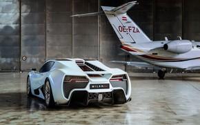 Picture supercar, rear view, 2018, hypercar, Milan, Milan automobile GMBH, Milan Red