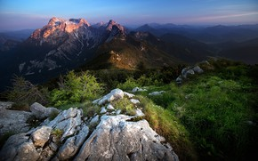 Picture landscape, mountains, nature, beauty, morning, panorama