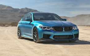 Picture BMW, Blue, Desert, Dust, Sight, F90