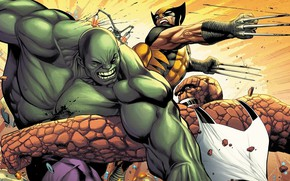 Picture Being, Costume, Fight, Wolverine, Logan, Comic, Claws, Hulk, Hulk, Wolverine, Logan, Marvel, Marvel Comics, Comics, …