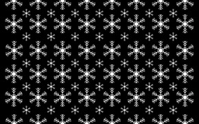 Picture winter, snowflakes, strip, pattern, texture, Christmas, New year, black background, the same, повторние