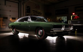 Picture Dodge, Classic, Charger, Dodge Charger, Muscle car, Hemi, Garage
