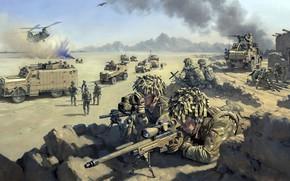Wallpaper soldiers, colon, Air Power Enabled, STUART BROWN, Royal Air Force Regiment
