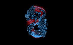 Picture Color, Minimalism, Dragon, Robot, Style, Background, Fur, Art, Art, Style, Background, Minimalism, Hastaning Bagus Penggalih, …