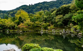 Picture pond, Park, photo, Japan, Kyoto