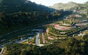 Picture forest, mountains, Park, road, Incredible Lanscape Project