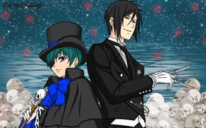 Picture Kuroshitsuji, Sebastian Michaelis, Ciel Phantomhive, Dark Butler