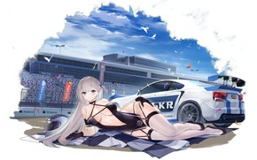 Picture girl, sexy, long hair, boobs, anime, beautiful, pretty, erotic, breasts, attractive, handsome, white hair, Shoukaku, …