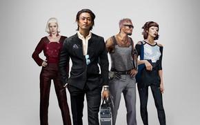 Picture girls, male, cyborgs, characters, Cyberpunk 2077, Cyberpunk 2077