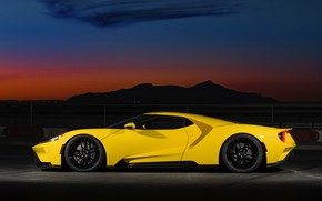 Picture Ford, the evening, supercar, Ford GT, side view, 2017